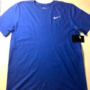 Nike Men's Crewneck Cotton T-Shirt Large Blue
